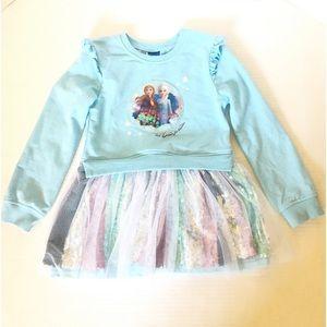 Disney Frozen II Long Sleeve Tutu Dress